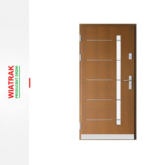 Groovy WIATRAK – Drzwi zewnętrzne drewniane – ZP14, płytowe | Drzwi BH79