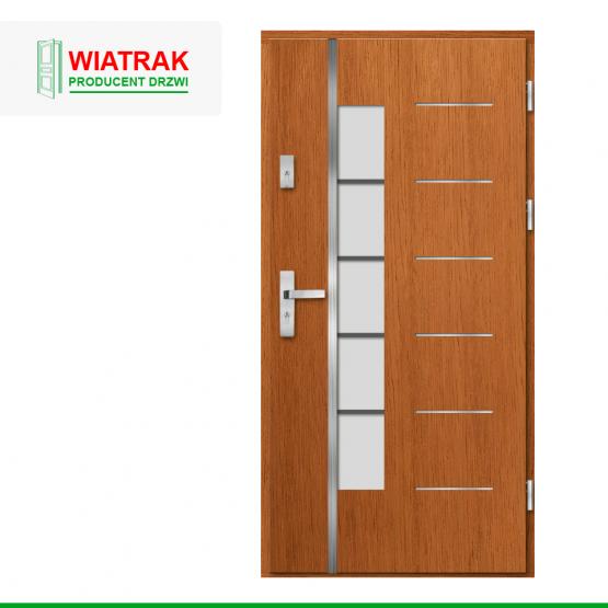 WIATRAK – drzwi płytowe, wzór DP11