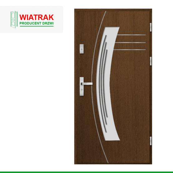 WIATRAK – drzwi płytowe, wzór DP14