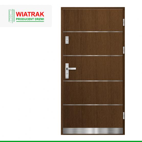 WIATRAK – drzwi płytowe, wzór DP21
