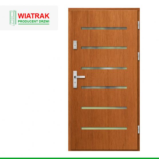 WIATRAK – drzwi płytowe, wzór DP37