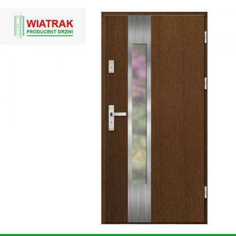 WIATRAK – drzwi płytowe, wzór DP38
