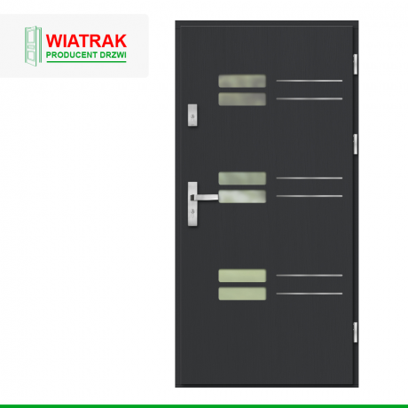 WIATRAK – drzwi płytowe, wzór DP39