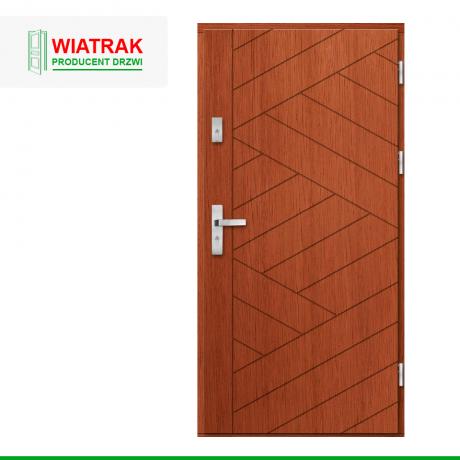 WIATRAK – drzwi płytowe, wzór DP43
