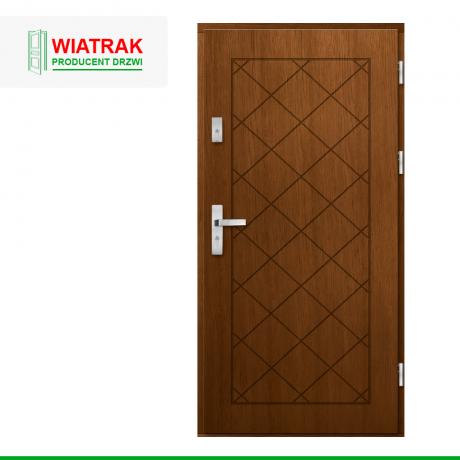 WIATRAK – drzwi płytowe, wzór DP45