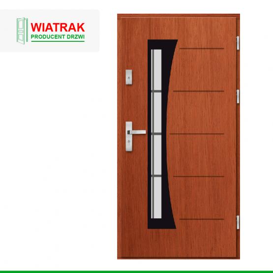 WIATRAK – drzwi płytowe, wzór DP6