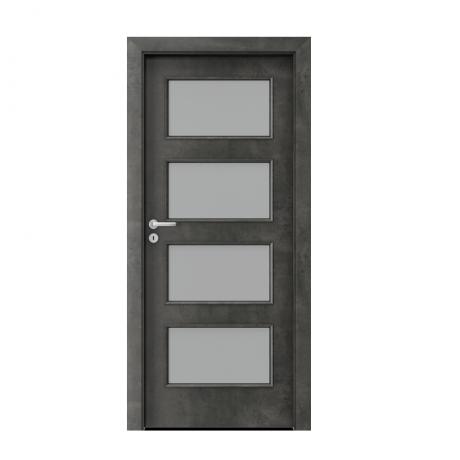 PORTA – drzwi wewnętrzne płycinowe- KOLEKCJA CPL- BETON CIEMNY- 5.5.