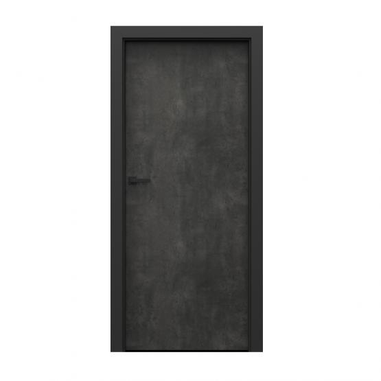 PORTA – drzwi wewnętrzne płycinowe- KOLEKCJA LOFT-BETON CIEMNY-MODEL 1.1.