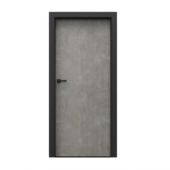 PORTA – drzwi wewnętrzne płycinowe- KOLEKCJA LOFT-BETON JASNY-MODEL 1.1.