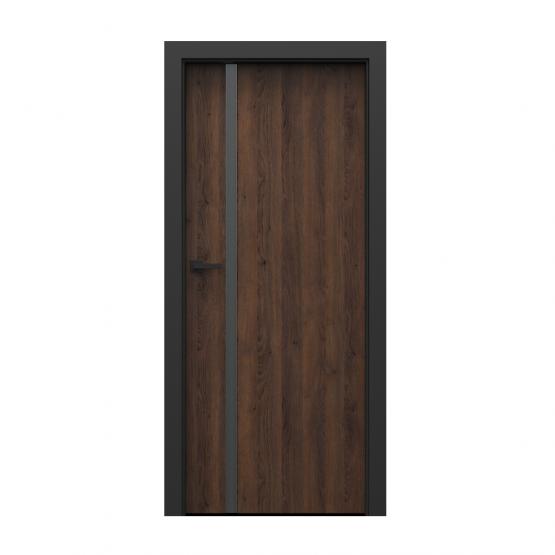 PORTA – drzwi wewnętrzne płycinowe- KOLEKCJA LOFT-DĄB BRĄZOWY-MODEL 4.A.