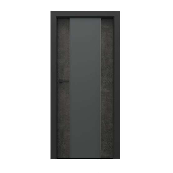 PORTA – drzwi wewnętrzne płycinowe- KOLEKCJA LOFT-BETON CIEMNY-MODEL 4.B.