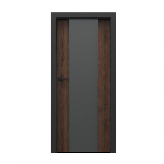 PORTA – drzwi wewnętrzne płycinowe- KOLEKCJA LOFT-DĄB BRĄZOWY-MODEL 4.B.