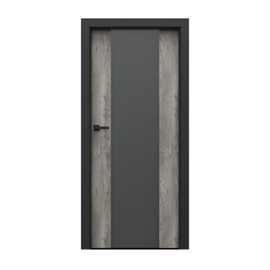 PORTA – drzwi wewnętrzne płycinowe- KOLEKCJA LOFT-DĄB SYBERYJSKI-MODEL 4.B.