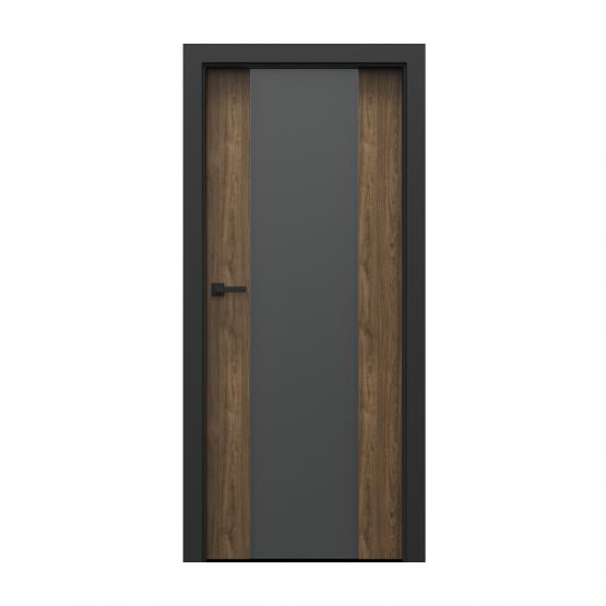 PORTA – drzwi wewnętrzne płycinowe- KOLEKCJA LOFT-ORZECH NATURALNY-MODEL 4.B.
