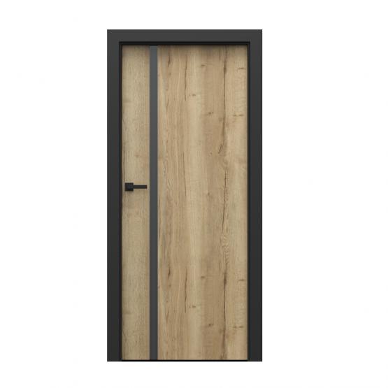 PORTA – drzwi wewnętrzne płycinowe- KOLEKCJA LOFT- BLACK HALIFAX-MODEL 4.A.