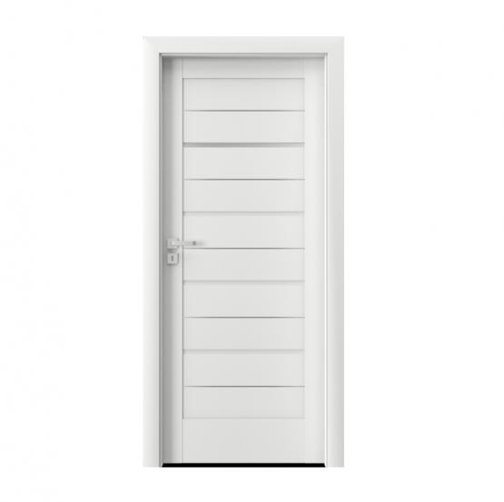 PORTA – drzwi wewnętrzne ramiakowe- KOLEKCJA VERTE HOME G – BIAŁY – INTARSJE – G1