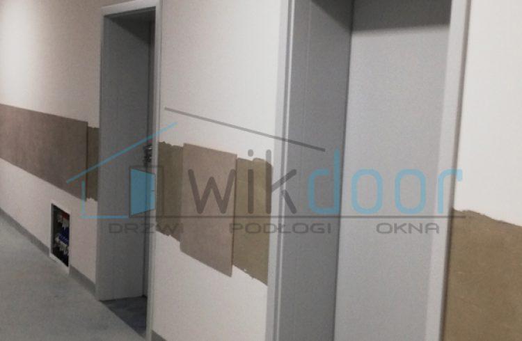 Montaż drzwi Pol-Skone w budynku Szkoły w Barcicach