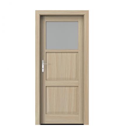 PORTA – drzwi wewnętrzne ramiakowe- KOLEKCJA CORDOBA – MAŁE OKIENKO DĄB JASNY