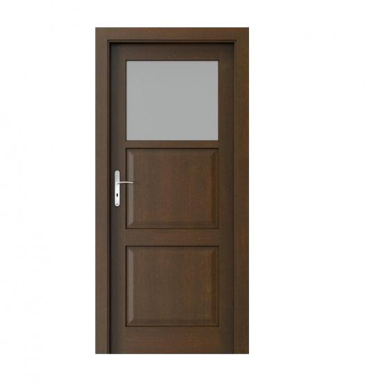 PORTA – drzwi wewnętrzne ramiakowe- KOLEKCJA CORDOBA – MAŁE OKIENKO MOCCA