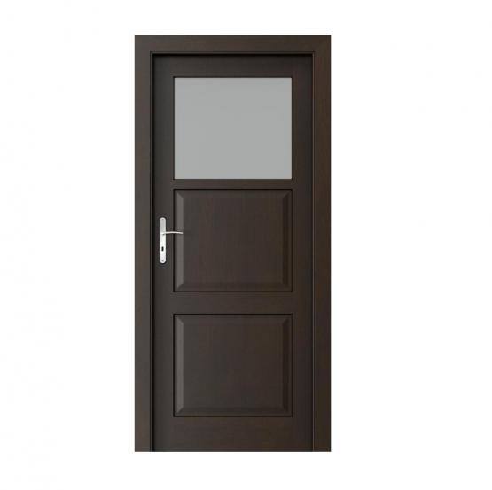 PORTA – drzwi wewnętrzne ramiakowe- KOLEKCJA CORDOBA – MAŁE OKIENKO NERO