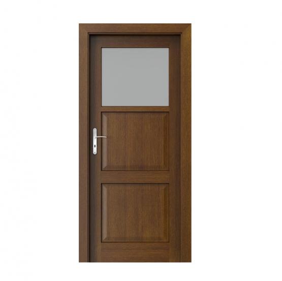 PORTA – drzwi wewnętrzne ramiakowe- KOLEKCJA CORDOBA – MAŁE OKIENKO TABACCO