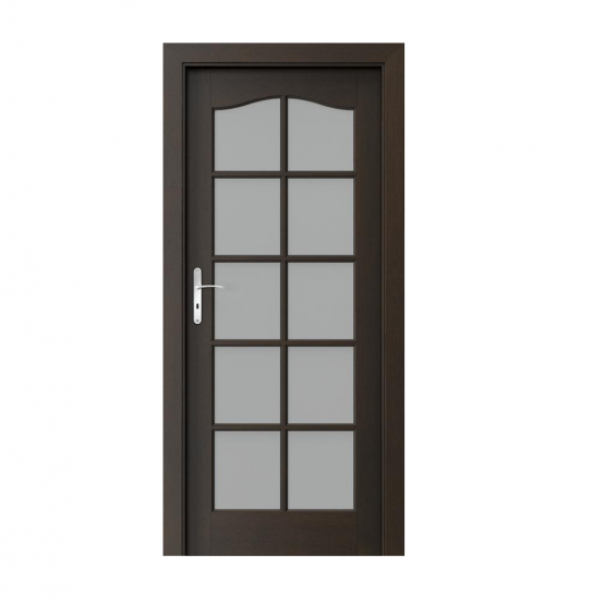 PORTA – drzwi wewnętrzne ramiakowe- KOLEKCJA MADRYT – DUŻY SZPROS NERO
