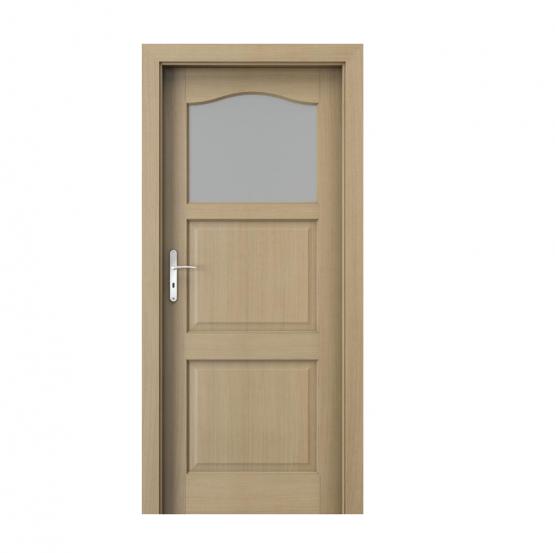 PORTA – drzwi wewnętrzne ramiakowe- KOLEKCJA MADRYT – MAŁE OKIENKO DĄB 1