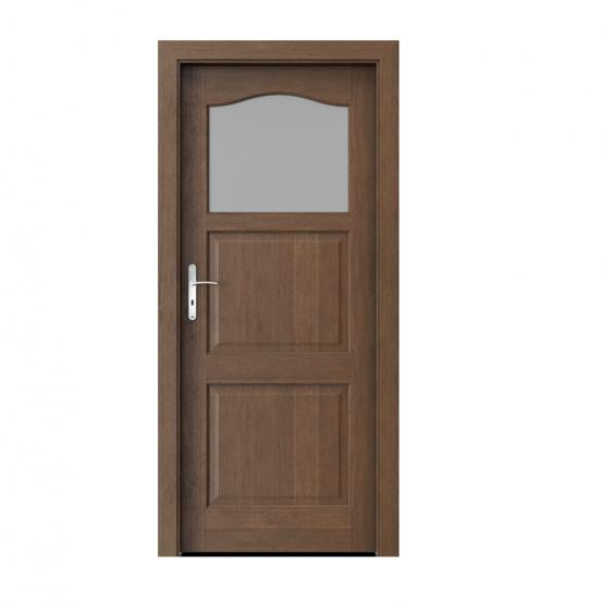 PORTA – drzwi wewnętrzne ramiakowe- KOLEKCJA MADRYT – MAŁE OKIENKO DĄB BRUNATNY