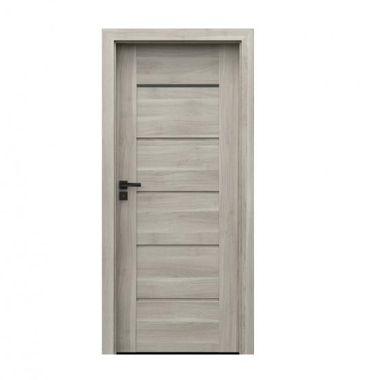 PORTA – drzwi wewnętrzne ramiakowe- KOLEKCJA VERTE PREMIUM E – AKACJA SREBRNA – E1