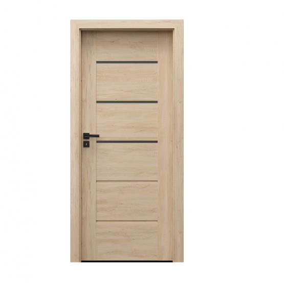 PORTA – drzwi wewnętrzne ramiakowe- KOLEKCJA VERTE PREMIUM E – BUK SKANDYNAWSKI – E3