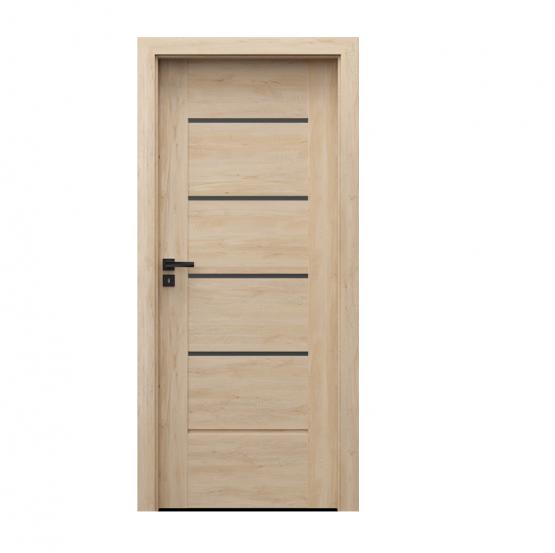 PORTA – drzwi wewnętrzne ramiakowe- KOLEKCJA VERTE PREMIUM E – BUK SKANDYNAWSKI – E4
