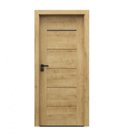 PORTA – drzwi wewnętrzne ramiakowe- KOLEKCJA VERTE PREMIUM E – DĄB ANGIELSKI HAMILTON – E1