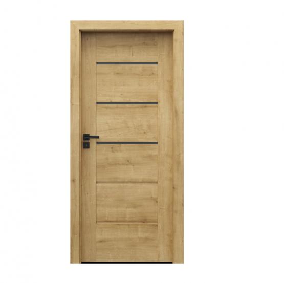 PORTA – drzwi wewnętrzne ramiakowe- KOLEKCJA VERTE PREMIUM E – DĄB ANGIELSKI HAMILTON – E3