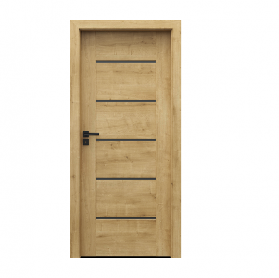 PORTA – drzwi wewnętrzne ramiakowe- KOLEKCJA VERTE PREMIUM E – DĄB ANGIELSKI HAMILTON – E5