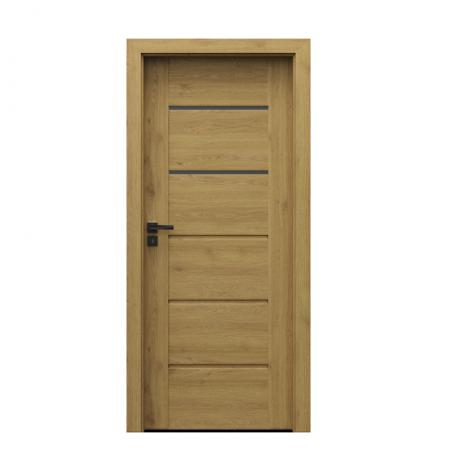 PORTA – drzwi wewnętrzne ramiakowe- KOLEKCJA VERTE PREMIUM E – DĄB NATURALNY – E2
