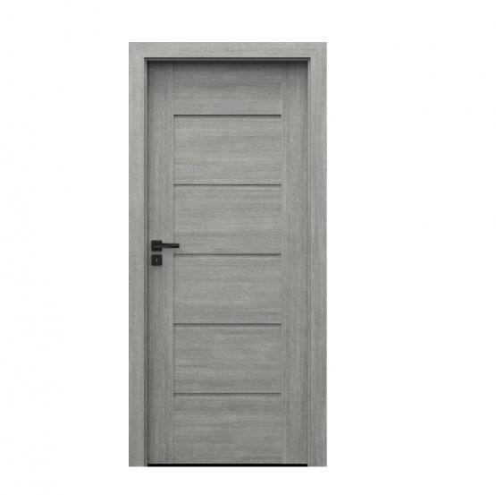 PORTA – drzwi wewnętrzne ramiakowe- KOLEKCJA VERTE PREMIUM E – DĄB SREBRZYSTY – E0