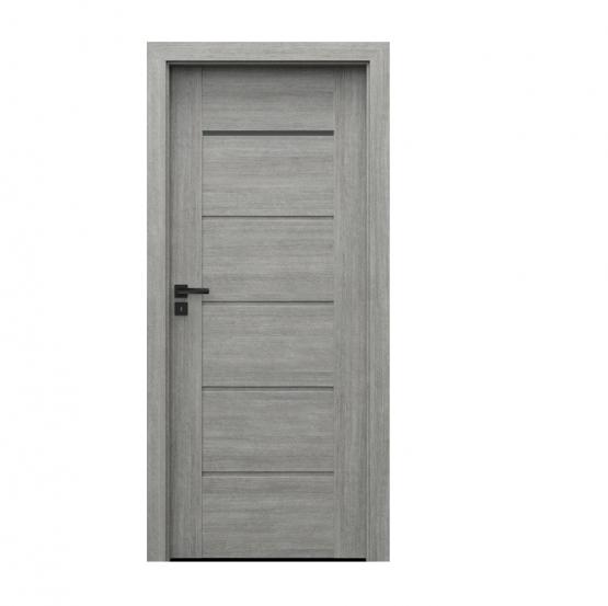 PORTA – drzwi wewnętrzne ramiakowe- KOLEKCJA VERTE PREMIUM E – DĄB SREBRZYSTY – E1