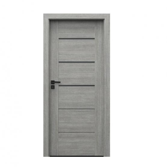 PORTA – drzwi wewnętrzne ramiakowe- KOLEKCJA VERTE PREMIUM E – DĄB SREBRZYSTY – E3