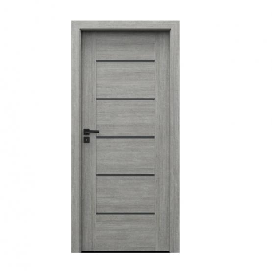PORTA – drzwi wewnętrzne ramiakowe- KOLEKCJA VERTE PREMIUM E – DĄB SREBRZYSTY – E5